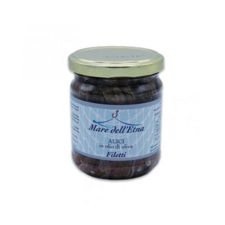 Filetti di alici in olio di oliva 200gr