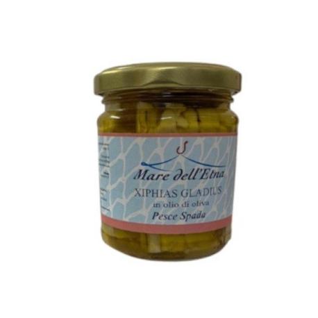 Filetti di pesce spada in olio di oliva 200 gr